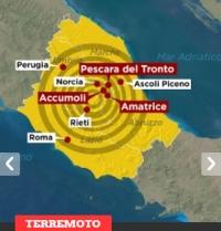 Terremoto nell'Italia centrale: colpito il reatino
