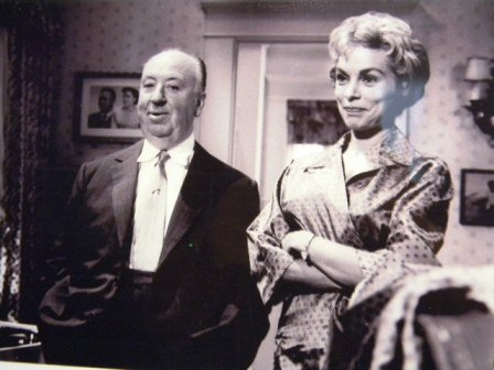 Alfred Hitchcock e Janet Leigh