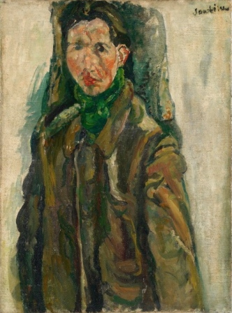 Soutine. Autoritratto con tenda