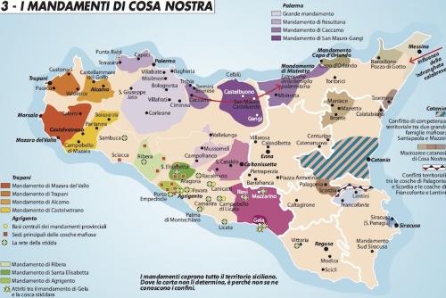 Cartina Sicilia Province.Girodivite Le Mappe Della Mafia In Sicilia